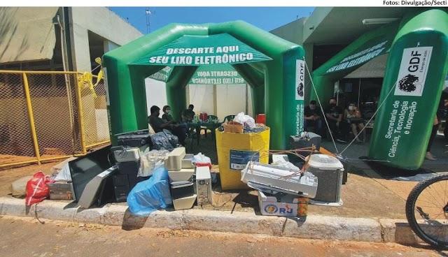 DRIVE-THRU DO RESÍDUO ELETROELETRÔNICO - Taguatinga recebe um ponto de coleta especial