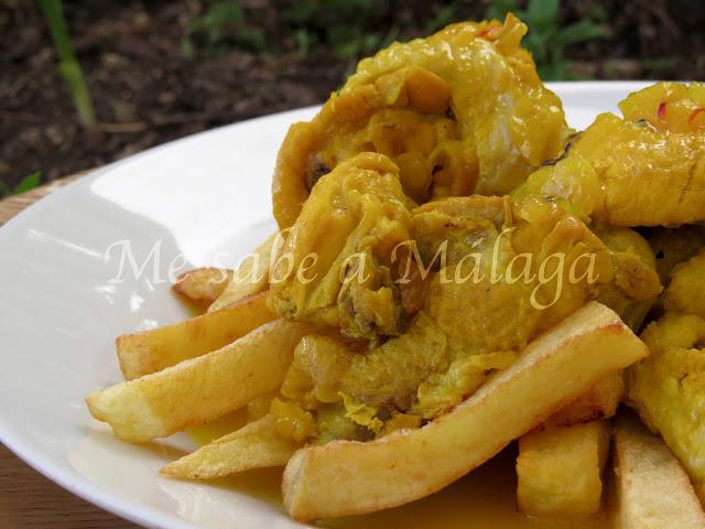 receta malagueña pollo en dorao Alfarnate