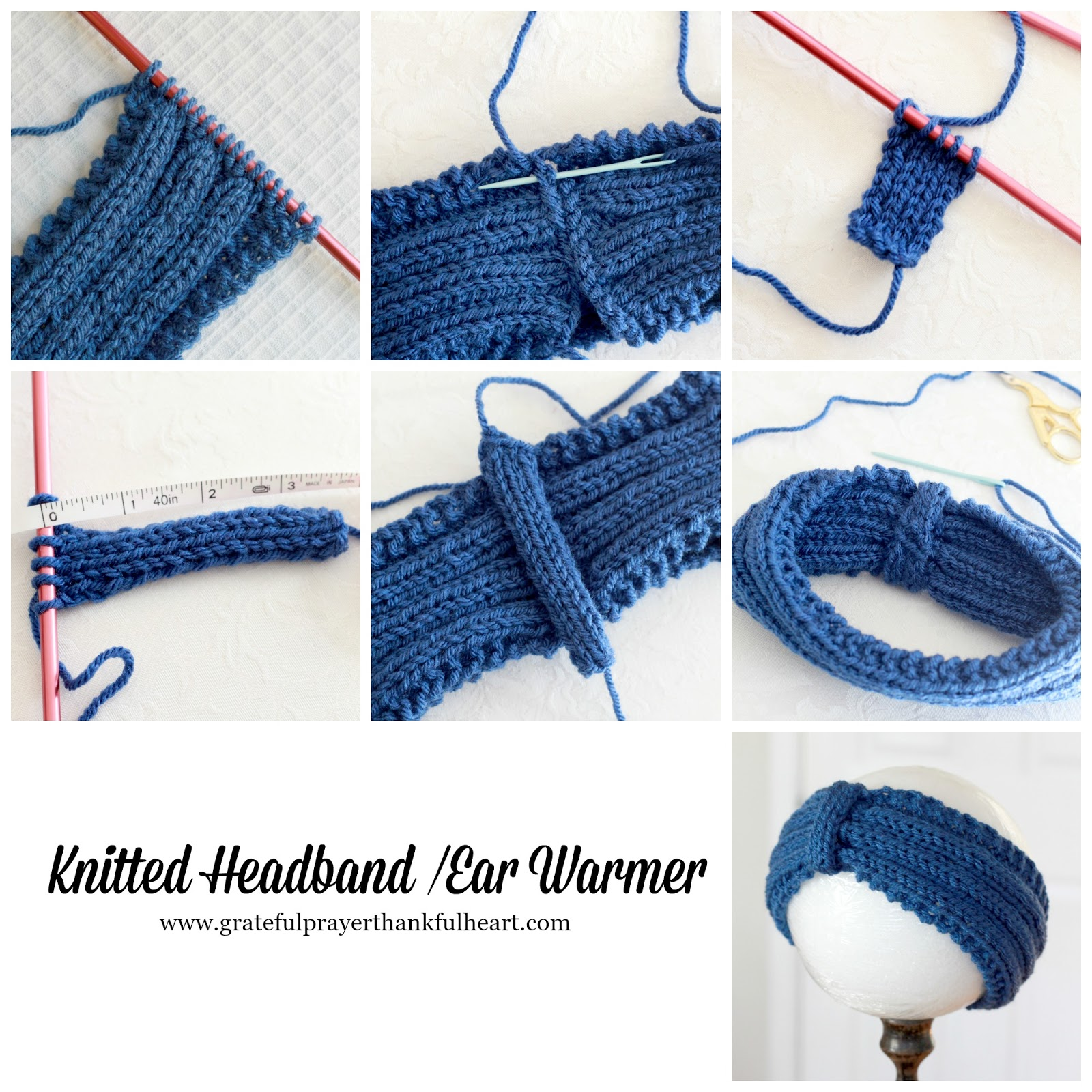 Knitted Headbands and Ear Warmers | Grateful Prayer | Thankful Heart