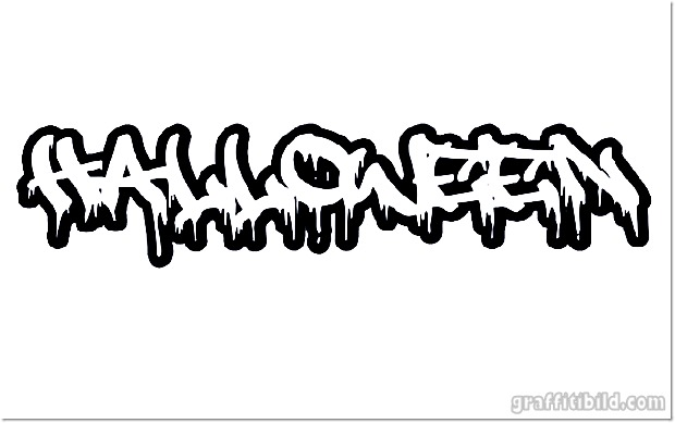 Halloween graffiti letters, halloween graffiti schrift, graffiti fonts