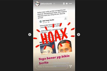 Diserang Hoax Dan Disebut Meninggal, Dahlan Iskan: Tega Bener Yang Bikin Berita