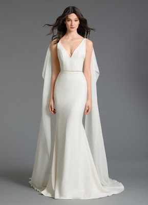 K'Mich Weddings - wedding planning - wedding dreses - chiffon cape, vneckline with detachable cape in white - tara keely by lazaro