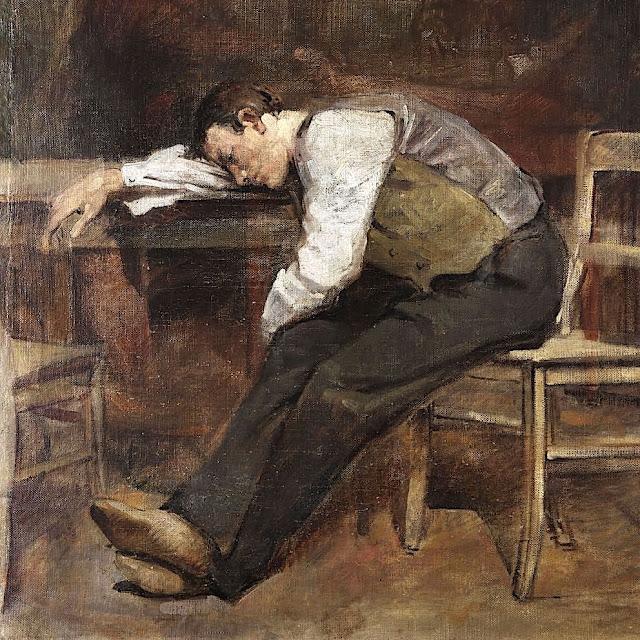 Homme Endormi,  1908 Huile sur toile, 54 x 47cm Collection privée