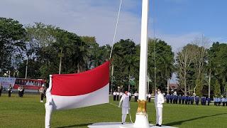HUT RI yang ke-75 Pemerintah Kota Jambi melaksanakan Upacara Penaikan Bendera Merah Putih yang di pimpin oleh Walikota Jambi H.Syarif Fasha,