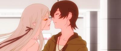 Araragi cho Kiss-shot hút máu mình