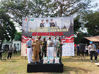 Forkopimda Lumajang Salurkan 35 Ton Beras dan 70 Ribu Masker untuk Masyarakat Terdampak Covid-19