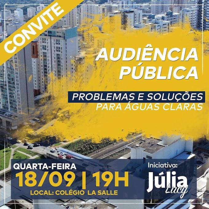 Politica: Deputada Júlia Lucy ouve problemas da população de Águas Claras
