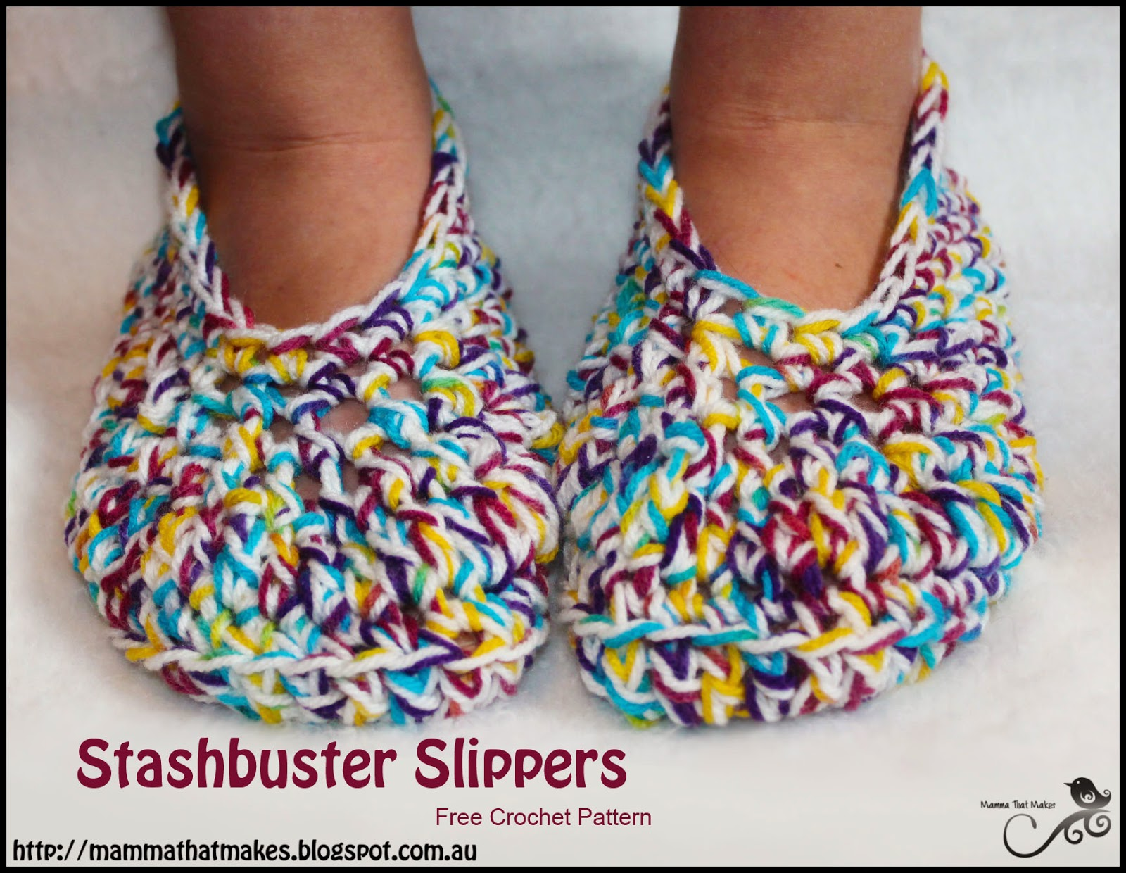 Mamma That Makes Stashbuster Slippers