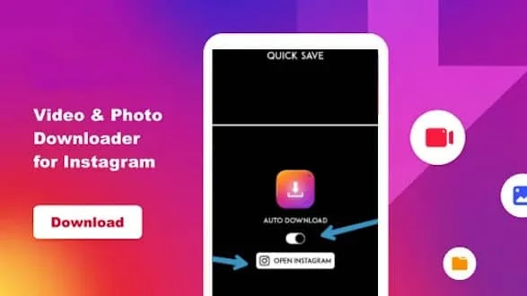 How to download photo, videos on Instagram - Android