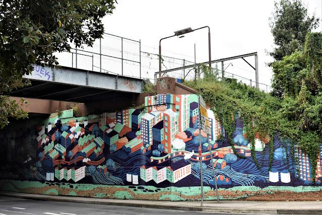 Rhodes Street Art   Mural by Scott Nagy, Krimsone & Dinalie