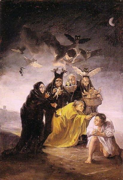 Witches' Sabbath by Francisco de Goya, Macabre Paintings, Horror Paintings, Freak Art, Freak Paintings, Horror Picture, Terror Pictures
