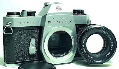 Asahi Pentax Spotmatic SP II (Chrome) Body #559, SMC Takumar 55mm F1.8 #693