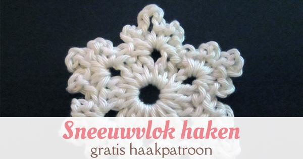 sneeuwvlok haken Nederlands patroon Pinterest