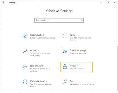 Cara Masuk Setting Privacy Di Windows 10