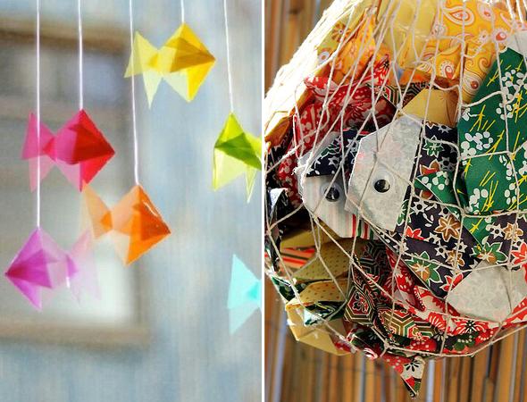 les petits poissons en origami louise grenadine blog lifestyle lyon. Black Bedroom Furniture Sets. Home Design Ideas