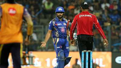 Rohit Sharma expressed his discontent after getting dismissed