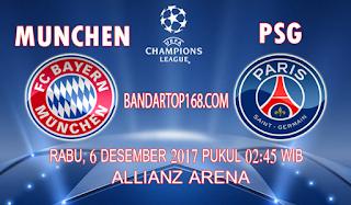 Prediksi Bayern Munchen vs PSG 6 Desember 2017