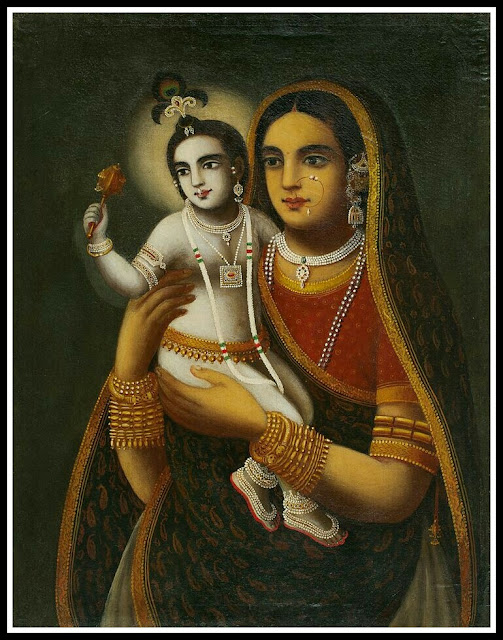 little krishna with yashoda images