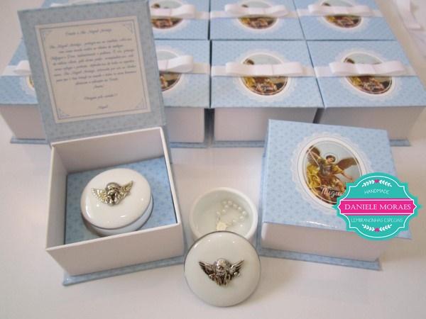 caixa rigidas, porta-joias porcelana, anjo, lembranca de batizado