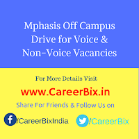 Mphasis Off Campus Drive for Voice & Non-Voice Vacancies