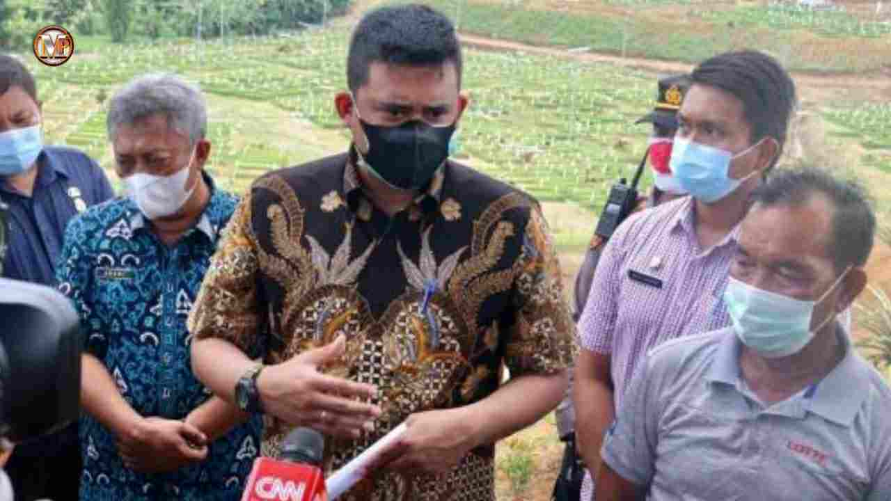 Bobby Nasution Tinjau Pemakaman Khusus Covid-19 di Simalingkar B