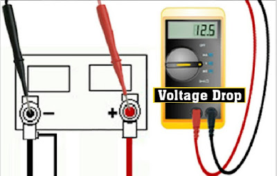 cara mengukur voltage drop