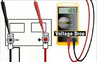 cara mengukur voltage drop