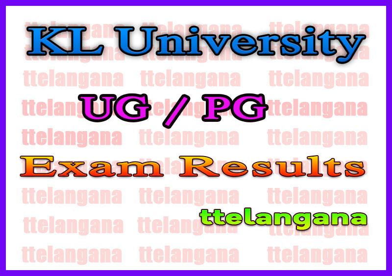 KL University UG / PG Exam Results