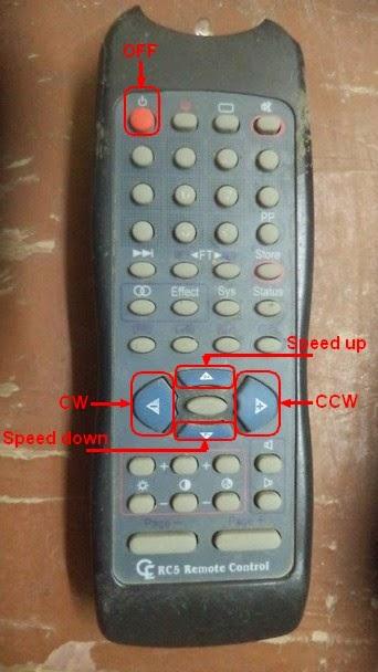 RC5 protocol remote control