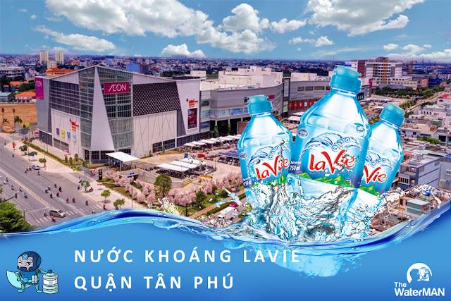 Đại lý đặt nước khoáng Lavie, Viva bình 20L, thùng đóng chai tại quận Tân Phú