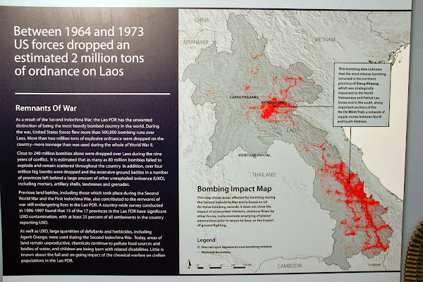 Vietnam War and its effects on UXO Laos