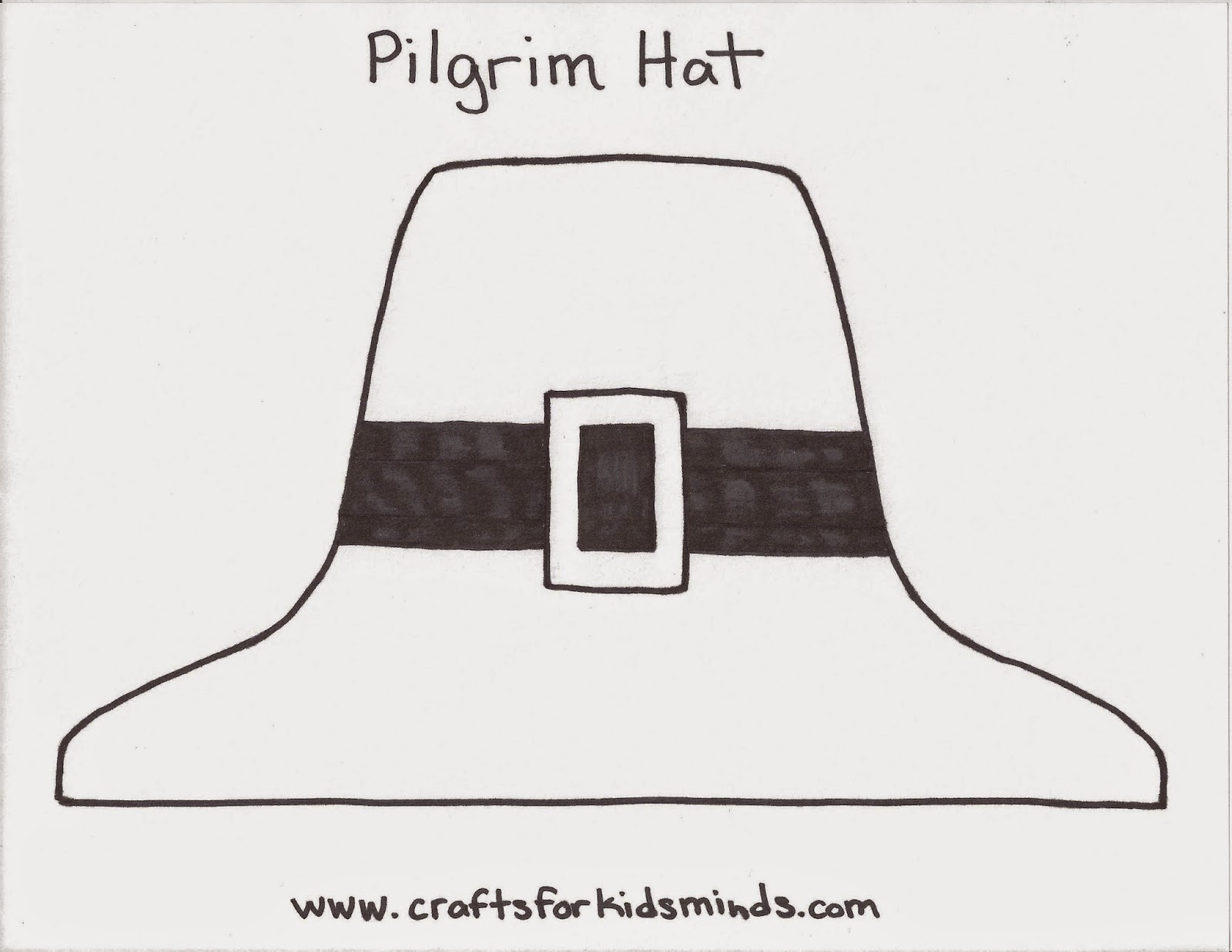 photo about Printable Pilgrim Hat named Crafts for Youngsters Minds: Pilgrim Hat Craft