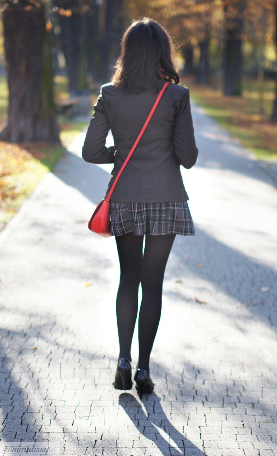 mini skirt, scarf, kaszkiet, natural