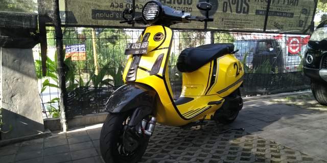 Modifikasi Vespa Primavera Warna Kuning