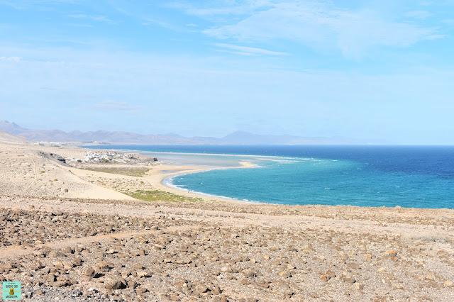 Playa de Sotavento desde el mirador del Salmo, Fuerteventura