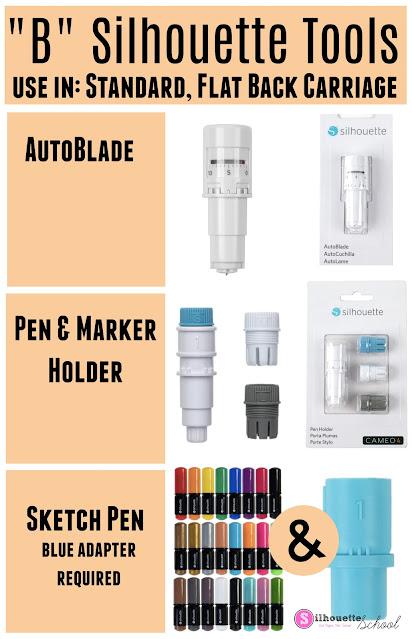 """cameo 4 blades, 15"""" silhouette CAMEO plus, cameo 4 autoblade, pen holder, sketch pens"""