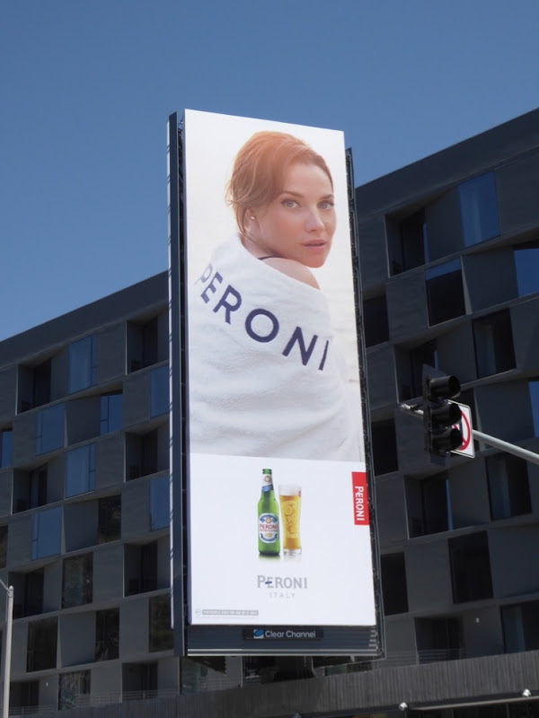 Peroni beer spring 2017 towel billboard