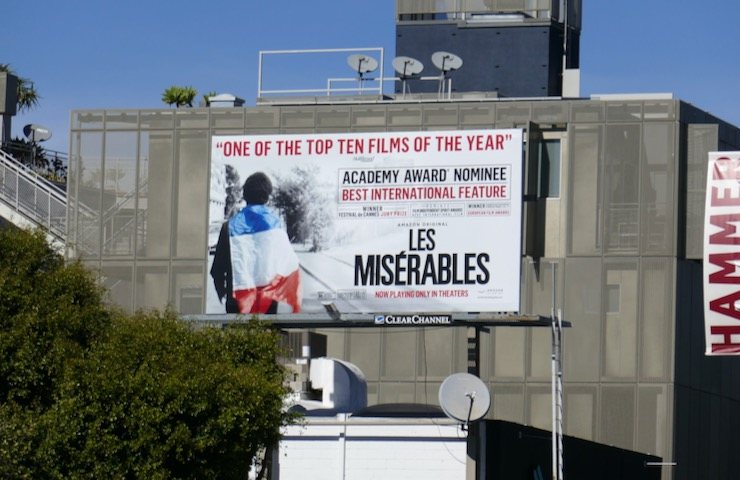 Les Misérables 2020 Oscar nominee billboard