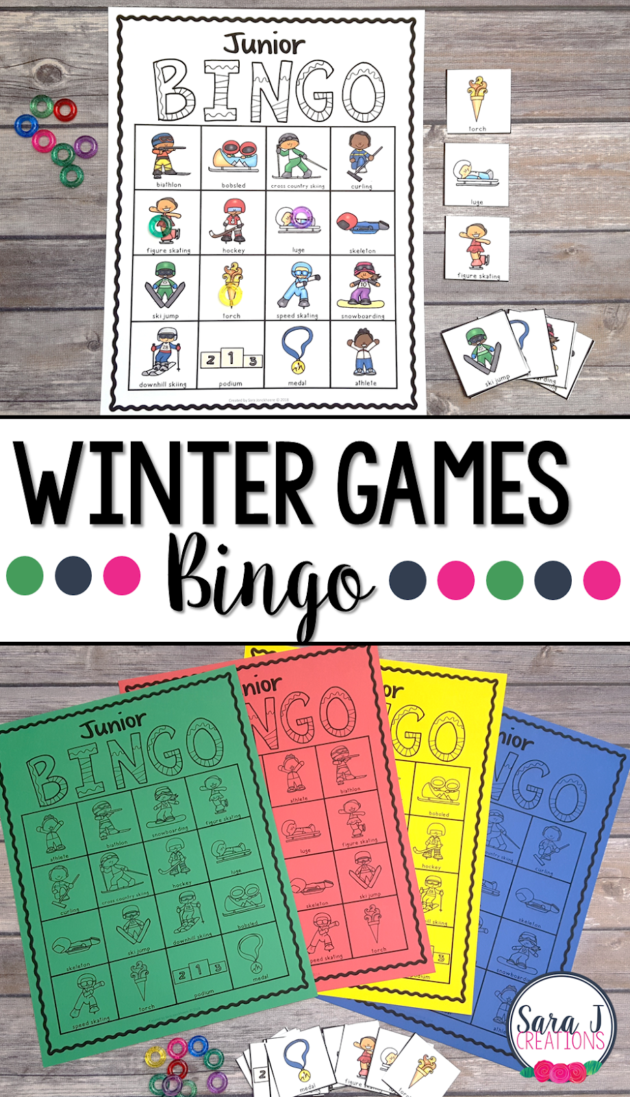 Have fun learning about the different events in the Winter Games with this fun junior bingo game.