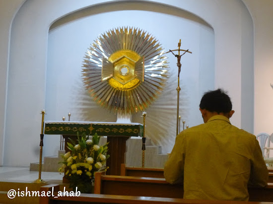 The Holy Eucharist in the adoration chapel of Chapel of the Eucharistic Lord in SM Megamall