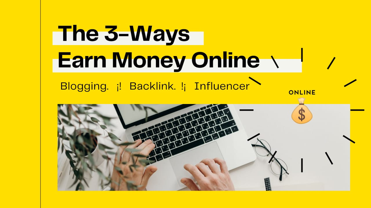 Top 3 Ways To Make Money Online 🔥 from backlinks and blogs