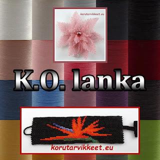K.O. lanka, korulanka, korutarvikkeet - helmikauppa netissä