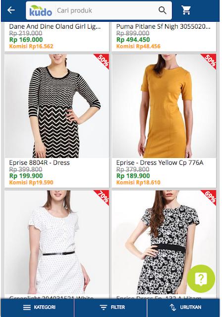 Pilih, Bayar, Pakai baju fashion wanita pilihanmu di Kudo