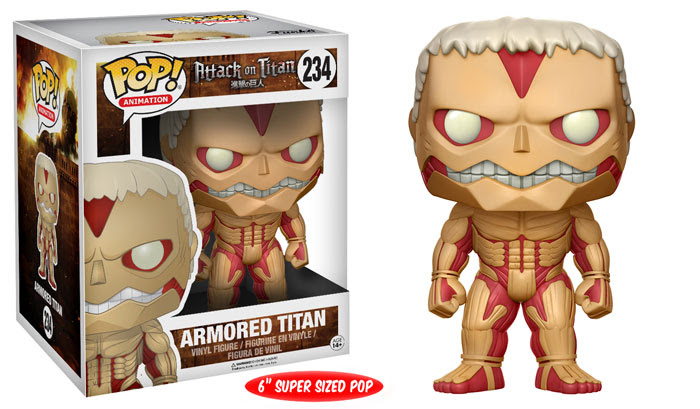 Attack On Titan Pop!Vinyls & Keychains from Funko for June