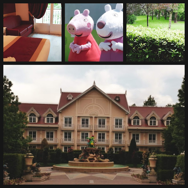 Collage of photos from Gardaland and Peppa Pig