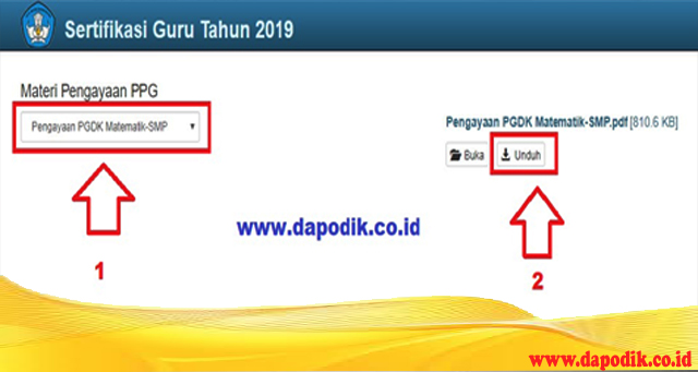 Cara Download Materi Pengayaan PPG Materi PPG Untuk Membantu Peserta PPG PGDK Dalam Mempersiapkan Diri Menghadapi Uji Pengetahuan (UP) PPG