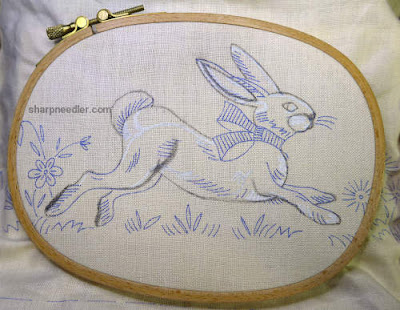 New design for embroidery Easter bunny on table runner
