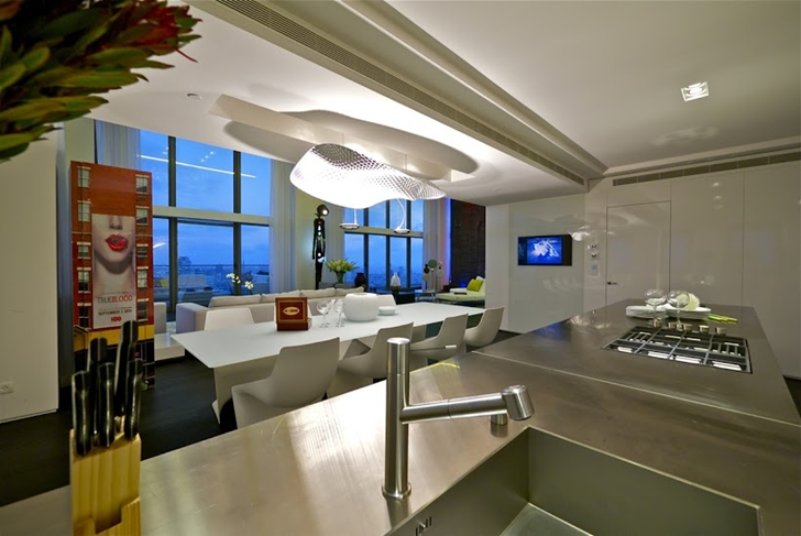 Penthouse from the kitchen