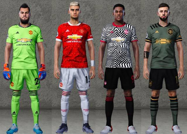 Manchester United Leaked Kits 2020-2021 For eFootball PES 2020