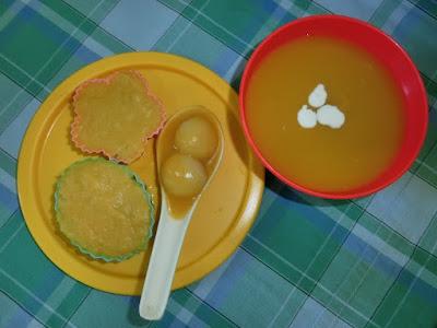 Bubur labu kuning yang mudah disediakan, dan sedap dimakan T_T